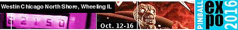 Pinball Expo 2016--Oct. 12-16, 2016