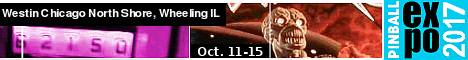 Pinball Expo 2017--Oct. 11-15, 2017