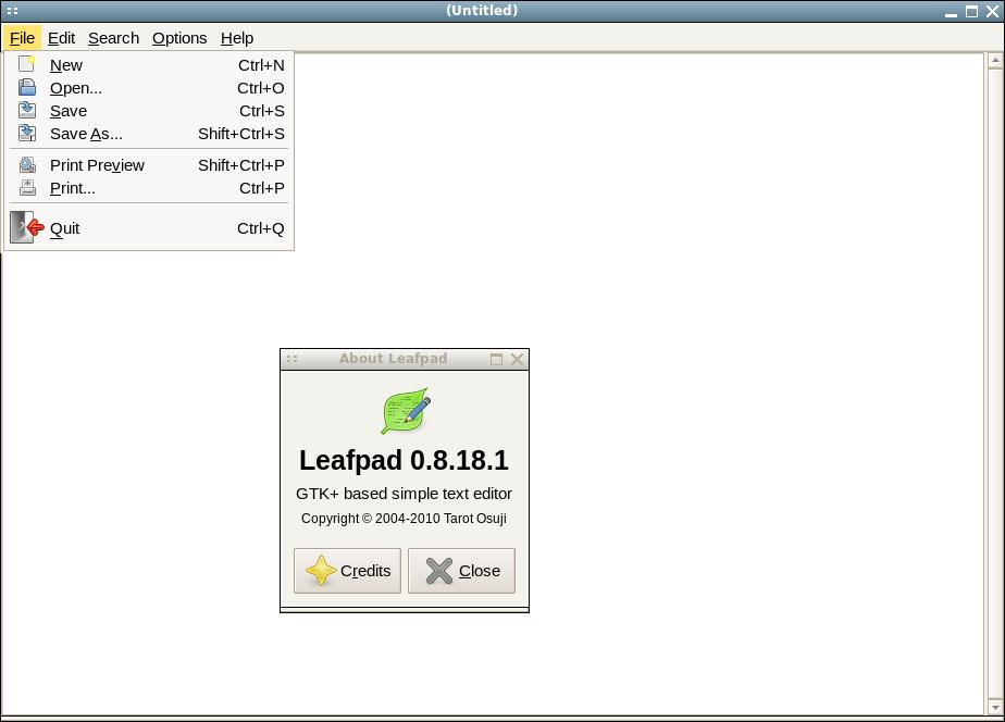 Doug's Blog: Leafpad is a good default editor for Slackware