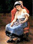 Renoir - Sleeping Girl with Cat