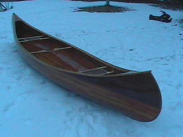 ... stitch and glue kayak my father made. This is in the back bay at the