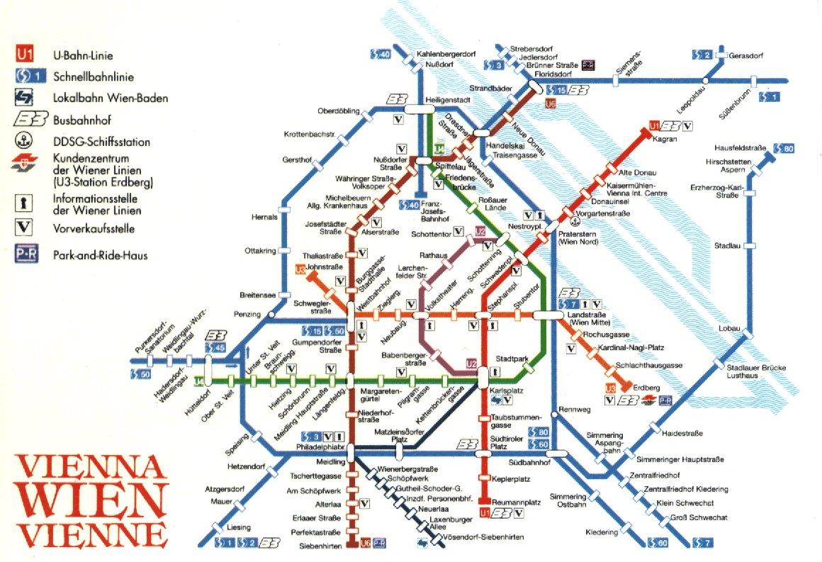 Subway map 2 of Vienna