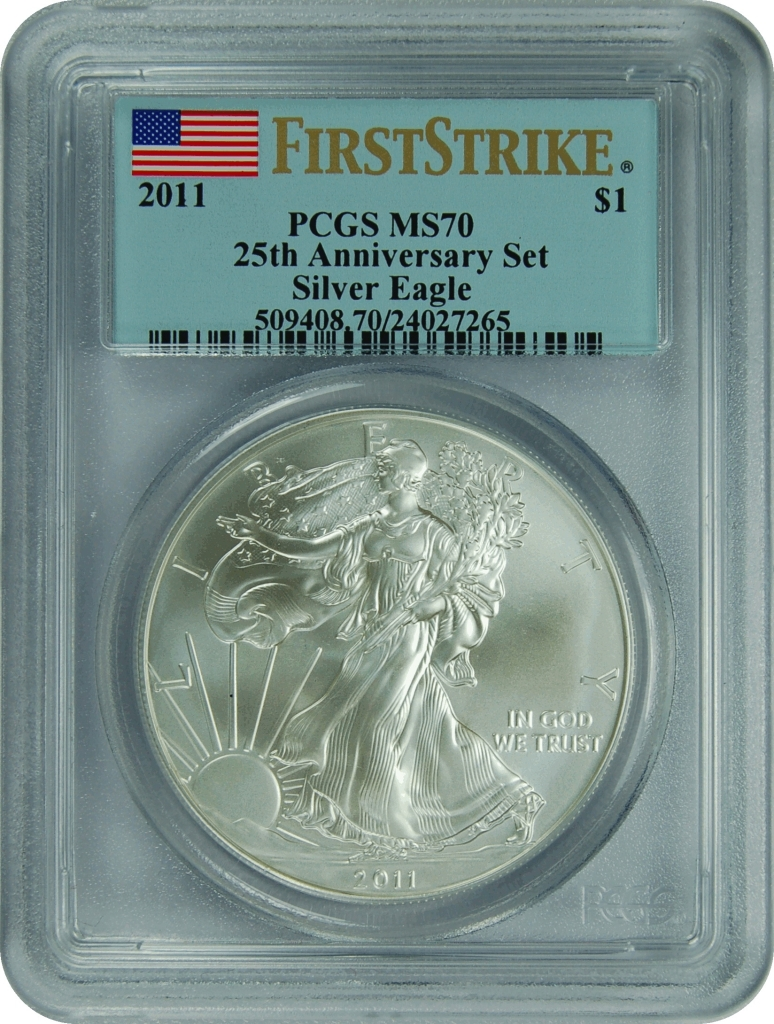 2011 American Silver Eagle First Strike PCGS MS-70-136841