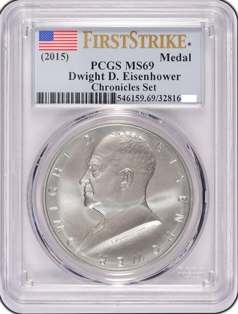 Chronicles Set 2015-P Eisenhower Reverse Proof $1 PCGS PR69 FIRST STRIKE !!
