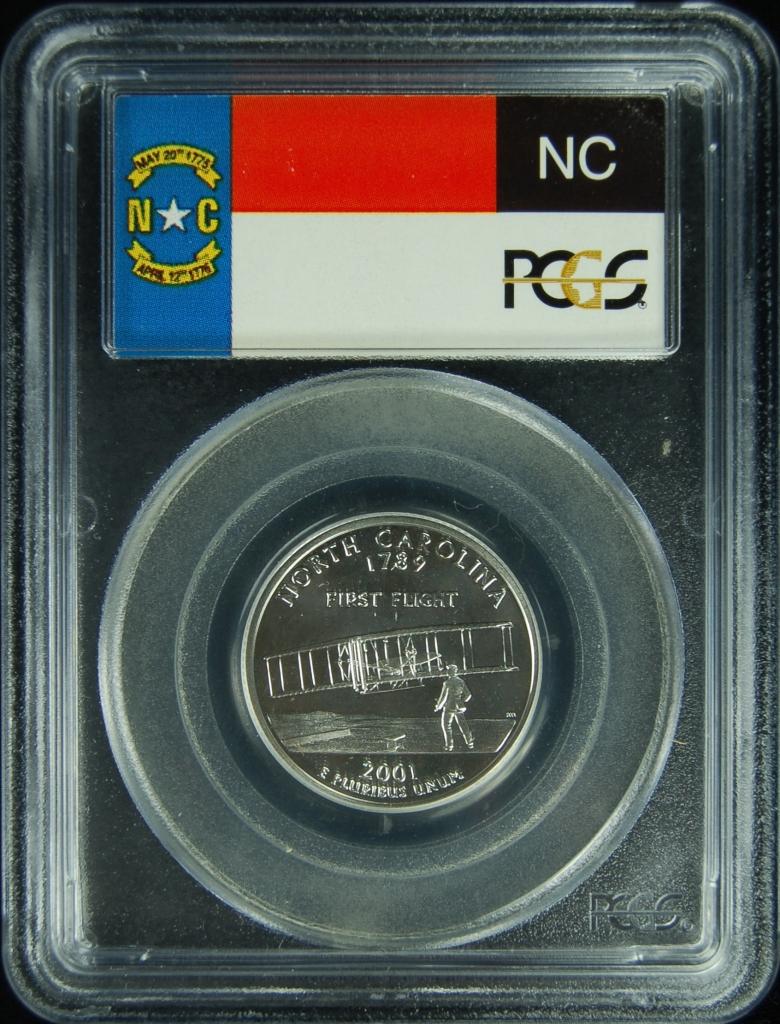 2001-S PCGS PR69DCAM North Carolina Statehood Quarter