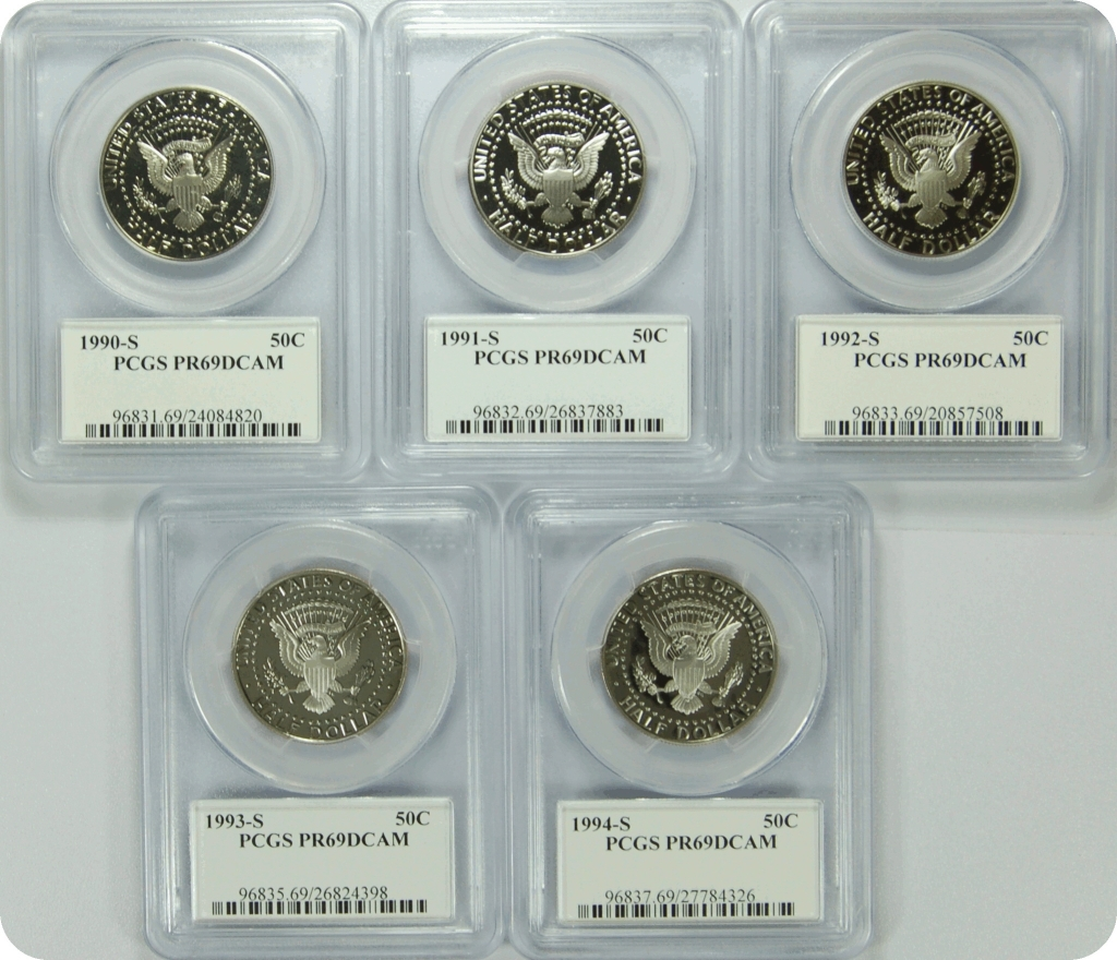1991-S PCGS PR70DCAM Kennedy Half Dollar Presidential Label