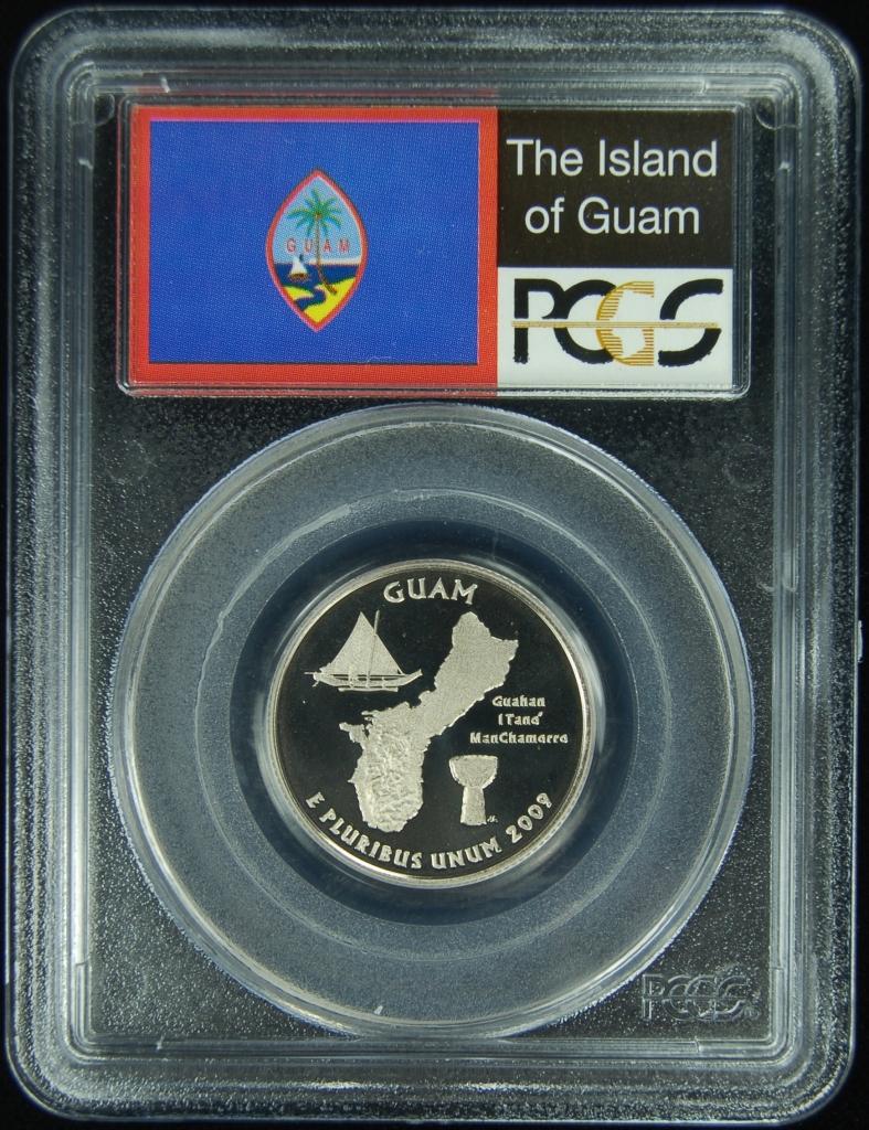 2009-S Flag Clad American Samoa AS State Quarter PR69DCAM PCGS Proof 69 Deep Cam